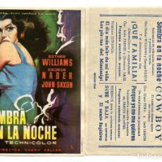 Cine: SOMBRA EN LA NOCHE, CON ESTHER WILLIAMS.. Lote 171711875