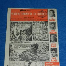 Cine: VIAJE AL CENTRO DE LA TIERRA , NOVELA DE JULIO VERNE 1960 , FILMAX , PAT BOONE , JAMES MASON. Lote 117105971