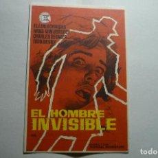 Cine: PROGRAMA EL HOMBRE INVISIBLE .-PUBLICIDAD. Lote 147102517