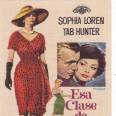 Cine: ESA CLASE DE MUJER CON SOPHIA LOREN, TAB HUNTER AÑO 1961 EN CINEMA RECREO. Lote 117154931