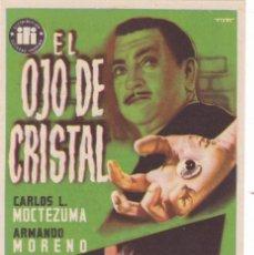 Cine: EL OJO DE CRISTAL CON ARMANDO MORENO, CARLOS L.MOCTEZUMA, BEATRÍZ AGUIRRE AÑO 1956. Lote 117157831