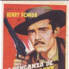 Cine: LA VENGANZA DE FRANK JAMES CON HENRY FONDA, GENE TIERNEY AÑO 1950. Lote 117158559