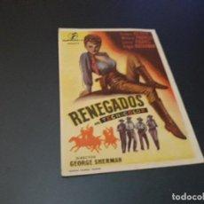 Cine: PROGRAMA DE MANO ORIG - RENEGADOS - CINE DE HELLIN - (PEDIDO MIN 5 EUROS). Lote 117297167