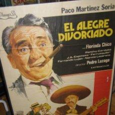 Cine: CARTEL CINE PELÍCULA EL ALEGRE DIVORCIADO DE PACO MARÍNEZ SORIA. ORIGINAL. MEDIDAS:100 X 70 CMS. Lote 117376847