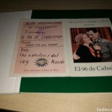 Cine: PROGRAMA DE CINE DOBLE. EL 96 DE CABALLERÍA. AÑOS 30. Lote 117394815