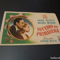 Cine: PROGRAMA DE MANO ORIGINAL - SUCEDIO EN PRIMAVERA - CINE DE MURCIA - ( PEDIDO MINIMO 5 EUR). Lote 128675511