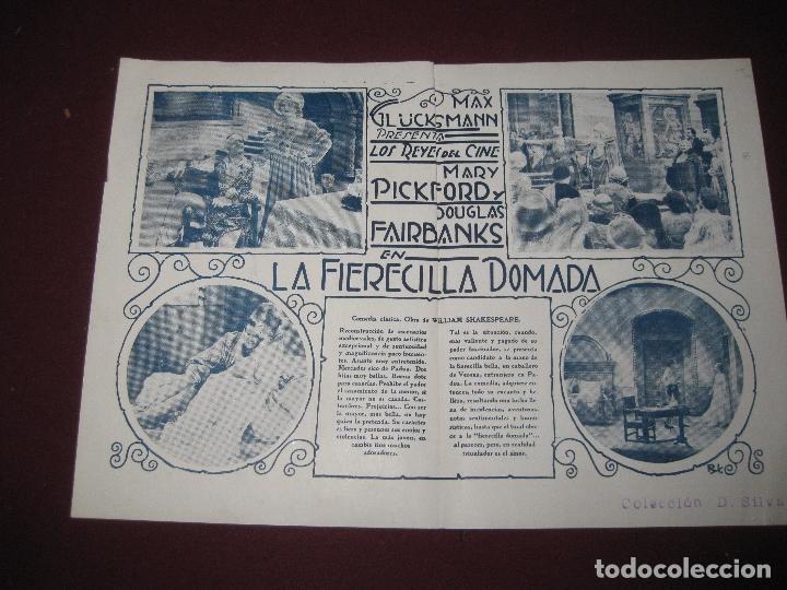 Cine: PROGRAMA DE CINE DOBLE. LA FIERECILLA DOMADA..MARY PICKFORD. CINE TEATRO CERVANTES 1930. - Foto 2 - 117911531