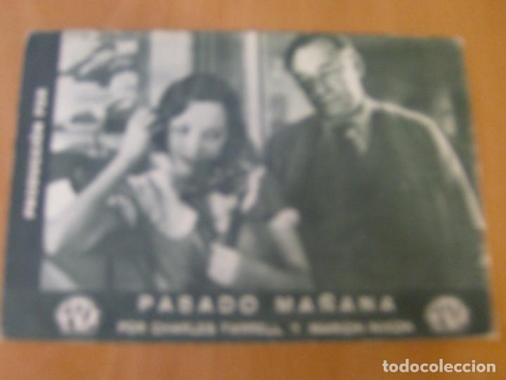 PASADO MAÑANA - PROGRAMA TARJETA DE LA FOX - CHARLES FARRELL Y MARION NIXON - AÑO 1930* (Cine - Folletos de Mano - Drama)