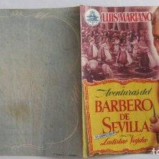 Cine: FOLLETO DE MANO, AVENTURAS DEL BARBERO DE SEVILLA, LUIS MARIANO Y LOLITA SEVILLA, SIN PUBLICIDAD. Lote 118250915