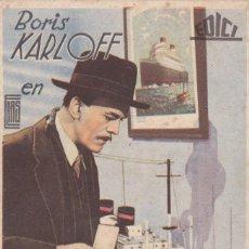 Cine: SENTENCIADO A MUERTE COM BORIS KARLOFF CINE DORADO -SIN PUBLICIDAD. Lote 118383263
