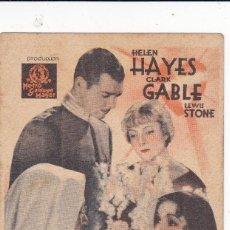Cine: LA HERMANA BLANCA CON HELEN HAYES, CLARK GABLE, LEWIS STONE AÑO 1941 CON PUBLICIDAD. Lote 118386419