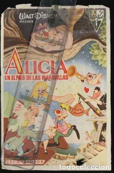 PROGRAMA DE CINE LOCAL DE LA PELÍCULA ALICIA EN EL PAÍS DE LAS MARAVILLAS (Cine - Folletos de Mano - Infantil)
