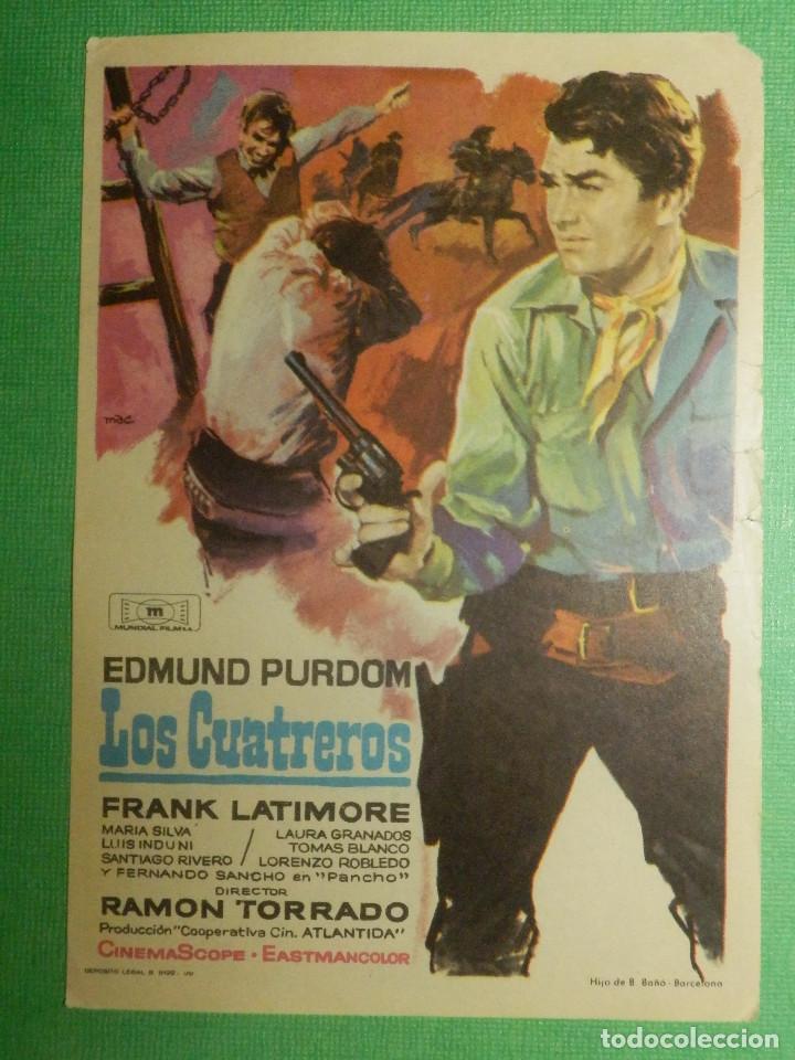 FOLLETO DE MANO CINE - PELÍCULA - LOS CUATREROS - (Cine - Folletos de Mano - Westerns)