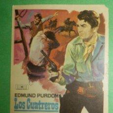 Cine: FOLLETO DE MANO CINE - PELÍCULA - LOS CUATREROS -. Lote 118671451