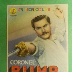 Cine: FOLLETO DE MANO - CINE - FILM - PELÍCULA - CORONEL BLIMP - CINE MUNICIPAL - 26 ABRIL DE 1946. Lote 118675287