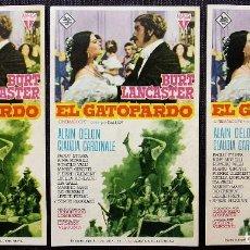 Cine: 3 PROGRAMAS DE CINE: DILLINGER. EL GATOPARDO. CINE CORDÓN. BURGOS.MUY BUEN ESTADO. AÑO: 1964.. Lote 118800135