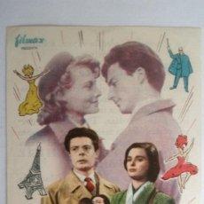 Cine: FOLLETO DE CINE, PARIS SIEMPRE PARIS CON LUCIA BOSE , AÑOS 60, CINE MUNDIAL, IGUALADA. Lote 118838783
