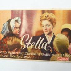 Cine: STELLA ZULLY MORENO FOLLETO DE MANO ORIGINAL ESTRENO PERFECTO ESTADO. Lote 118902047