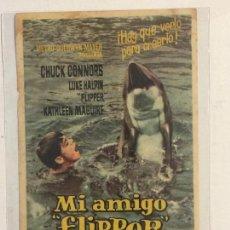 Cine: PROGRAMA DE CINE MI AMIGO FLIPPER. CINE VERDI.. Lote 118947991