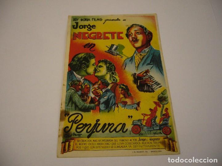 PERJURA CON JORGE NEGRETE AÑO 1946 SALON ESPAÑOL (Cine - Folletos de Mano - Musicales)