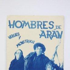 Cine: PROGRAMA DE CINE DOBLE - LOS HOMBRES DE ARÁN - ATLANTIC FILMS - AÑOS 30 - CON PUBLICIDAD - AZUL. Lote 119005751