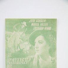 Cine: PROGRAMA DE CINE DOBLE - EL CRIMEN DEL EXPRESO / JOSE GORDON, MAGDA HALLER - AMANECER - AÑO 1941. Lote 119008031