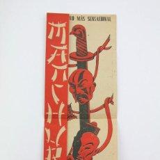 Cine: PROGRAMA DE CINE DOBLE - MANCHURIA / RICHARD DIX, BILLY ANDRÉ - CENTURY FOX - AÑO 1942. Lote 119011423