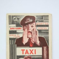 Cine: PROGRAMA DE CINE SIMPLE - TAXI / JAMES CAGNEY, LORETTA YOUNG - WARNER BROS - AÑO 1933. Lote 119012819