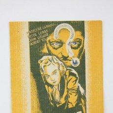 Cine: PROGRAMA DE CINE DOBLE - EL AGENTE SECRETO / ALFRED HITCHCOCK - GAUMONT BRITISH - 1939. Lote 119068867