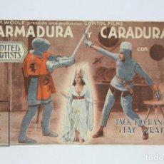 Cine: PROGRAMA DE CINE DOBLE - ARMADURA Y CARADURA / JACK BUCHANAN, FAY WRAY - UNITED ARTISTS - AÑOS 30. Lote 119071151