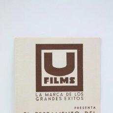 Cine: PROGRAMA DE CINE DOBLE - EL TESTAMENTO DEL DR. MABUSE / FRITZ LANG - U FILMS - 1936. Lote 119080403