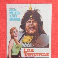 Cine: LOS TARTAROS, IMPECABLE SENCILLO, ORSON WELLES VICTOR MATURE, CON PUBLI T.CIRCO 1962. Lote 119371831
