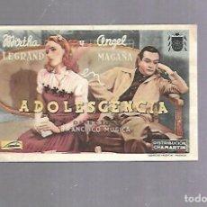 Cine: PROGRAMA DE CINE. S/P. ADOLESCENCIA. Lote 119416879