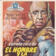 Cine: EL EXTRAÑO CASO DE EL HOMBRE Y LA BESTIA CON MARIO SOFFICI, ANA MARÍA CAMPOY AÑO 1953 CON PUBLICIDAD. Lote 119481711