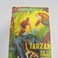 Foglietti di film di film antichi di cinema: PROGRAMA DE CINE. S/P. TARZAN EN LA CIUDAD MUERTA. Lote 119602491