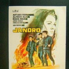 Cine: JANDRO-JULIO COLL-ARTURO FERNANDEZ-AGUSTIN GONZALEZ-MARIA MAHOR-ILUSTRADOR MONTALBAN-1964. MUY RARO.. Lote 209324975