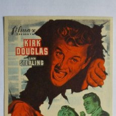 Cine: FOLLETO DE CINE, EL GRAN CARNAVAL CON KIRK DOUGLAS, AÑOS 60, SIN PUBLICIDAD . Lote 119876275