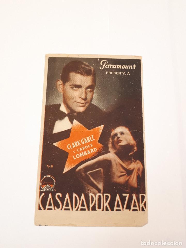 CASADA POR AZAR, CLARK GABLE. PARAMOUNT. DOBLE. (Cine - Folletos de Mano - Drama)