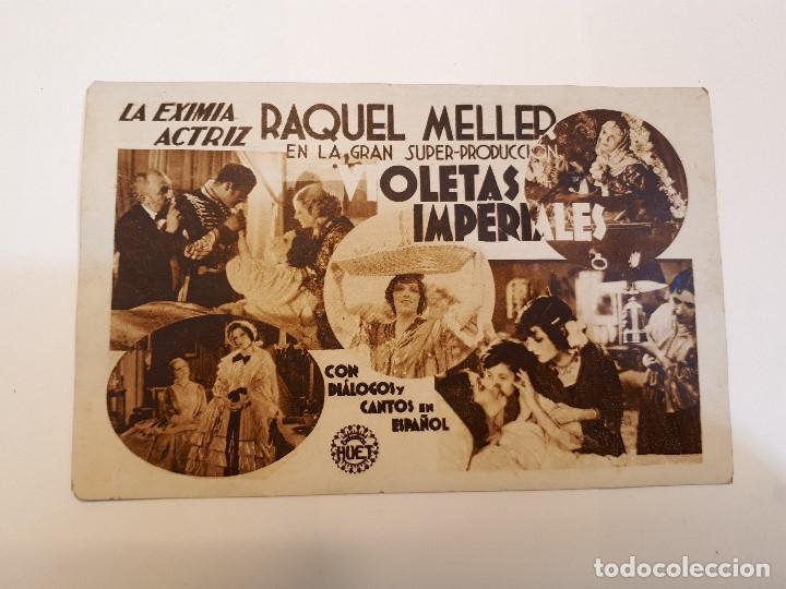 VIOLETAS IMPERIALES. RAQUEL MELLER. (Cine - Folletos de Mano - Drama)