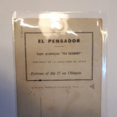 Cine: EL PENSADOR. ÚNICO.. Lote 120101463