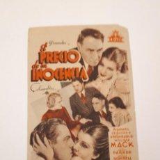 Cine: EL PRECIO DE LA INOCENCIA, CINE VICTORIA, MÁLAGA.. Lote 120101807