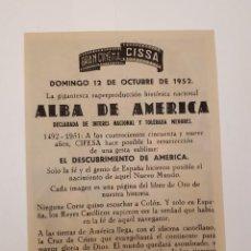 Cine: ALBA DE AMÉRICA. CIFESA. RARO.. Lote 120106447