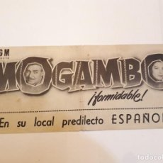 Cine: MOGAMBO. Lote 120148515
