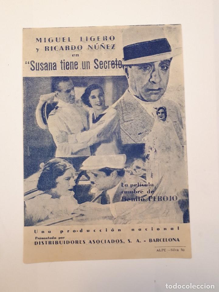 SUSANA TIENE UN SECRETO. CINE VICTORIA, MÁLAGA. 1942. (Cine - Folletos de Mano - Drama)