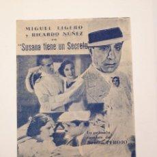 Cine: SUSANA TIENE UN SECRETO. CINE VICTORIA, MÁLAGA. 1942.. Lote 120152291