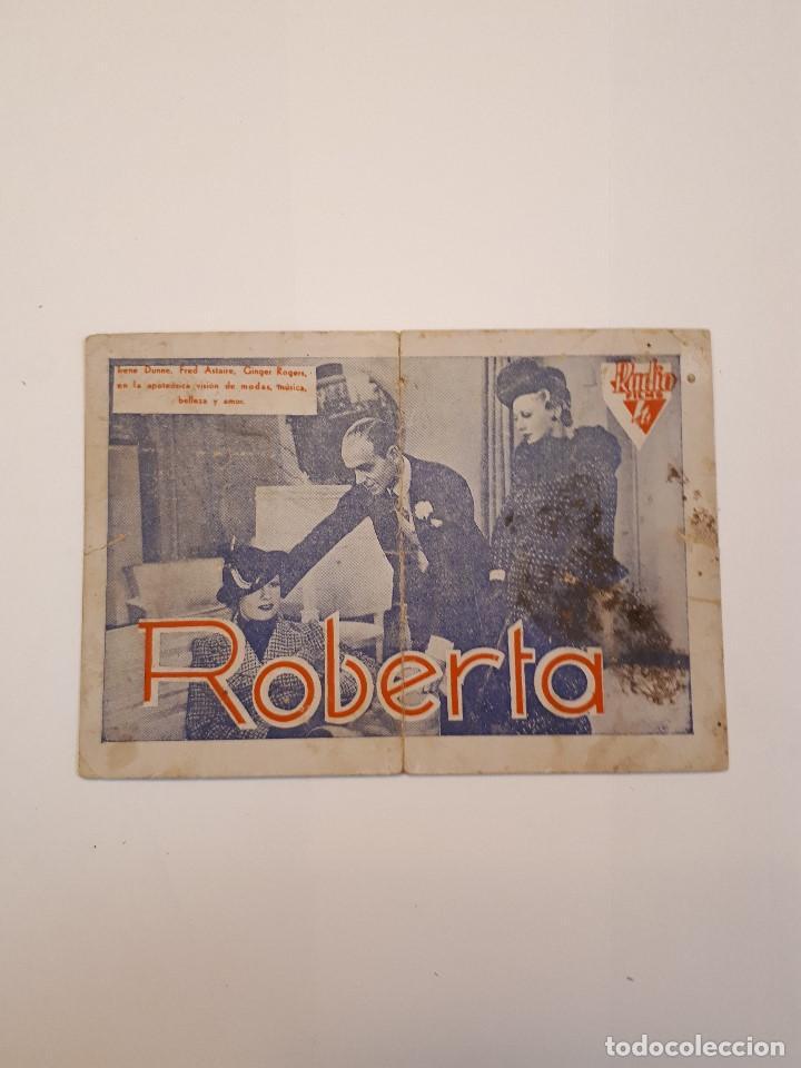 ROBERTA, CINE VICTORIA, MÁLAGA. 1940 (Cine - Folletos de Mano - Drama)
