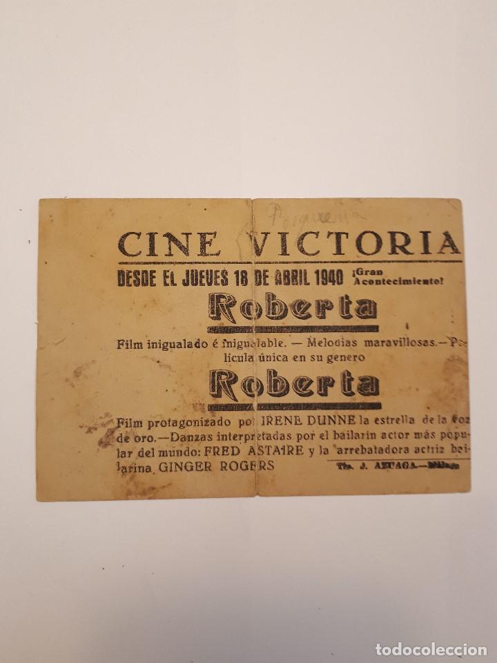 Cine: Roberta, cine Victoria, Málaga. 1940 - Foto 2 - 120152395