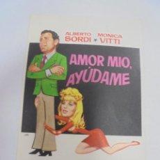 Flyers Publicitaires de films Anciens: PROGRAMA DE CINE. S/P. AMOR MIO, AYUDAME. Lote 120189211