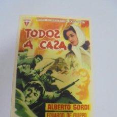 Cine: PROGRAMA DE CINE. S/P. TODOS A CASA. Lote 120198063