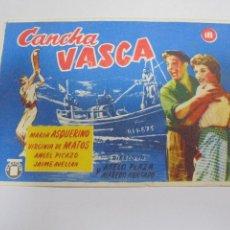 Cine: PROGRAMA DE CINE. S/P. CONCHA VASCA. Lote 120198555